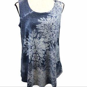 Style & Co Tie Dye Scoop Neck Tank Top